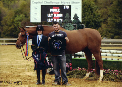 Lily Blavin and Pringle Champion Childrens Hunter 2012 Capital Challenge Photo by The Book LLC