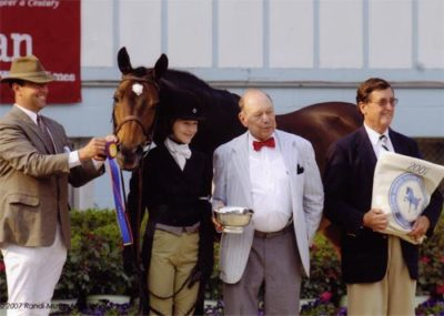 Lucy Davis and Harmony owned by Old Oak Farm Grand Champion Junior Hunters 2007 Devon Horse Show Photo Randi Muster