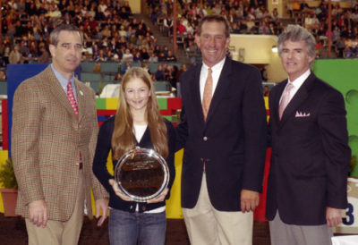 Lucy Davis Winner Lifetime Trophy High Point Junior Rider 2007 Del Mar National Photo Ed Moore