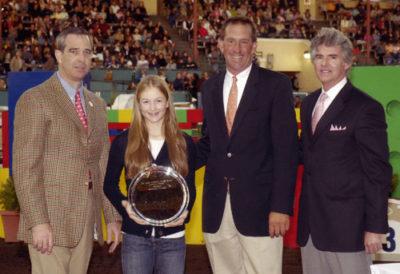 Lucy Davis Winner Lifetime Trophy High Point Junior Rider 2007 Del Mar National Photo Ed Moore