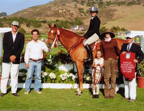 Mandarin owned by Jane Fraze Reserve Grand Champion 2005 Junior Hunter Finals Photo JumpShot