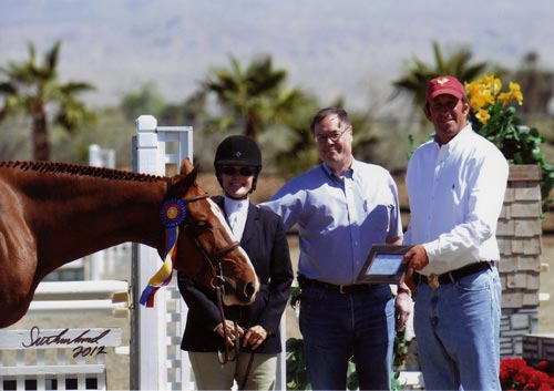Polly Sweeney and Duet Champion Amateur-Owner Hunter 36 & Over 2012 HITS Desert Circuit Photo Flying Horse