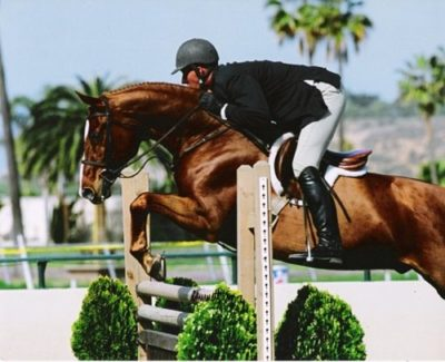 Red Label -Balboa- and Archie Cox owned by Glenda Lippman Reserve Champion First Year Green Working Hunters 2007 Palms Classic Horse Show Photo Cathrin Cammett