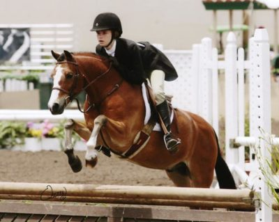 Skylar Nelson and Rainbow Canyon owned by Wild Sky Farm Best Pony Rider Small Pony Hunters 2009 Del Mar National Photo Osteen