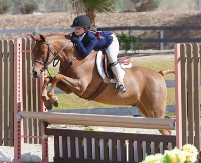 Stella Wasserman and Silly Putty Medium Pony Hunter 2016 HITS Desert Circuit