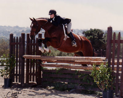 Stephanie Danhakl and Henley Champion Small Junior Hunter 2003 Portuguese Bend National Photo Osteen