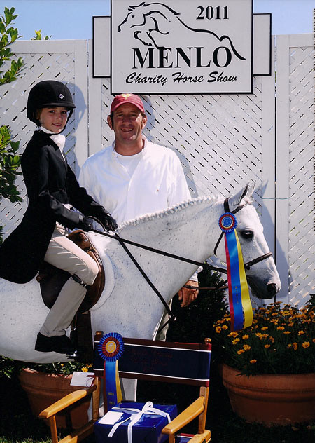 Wylie Nelson and Snowbird owned by Chloe Reid LLC Small Pony Hunter Champion 2011 Menlo Charity Photo JumpShot