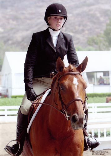 Ashley Pryde and Pringle 2009 National Champion Small Junior Hunters 16-17 Photo Captured Moment Photography