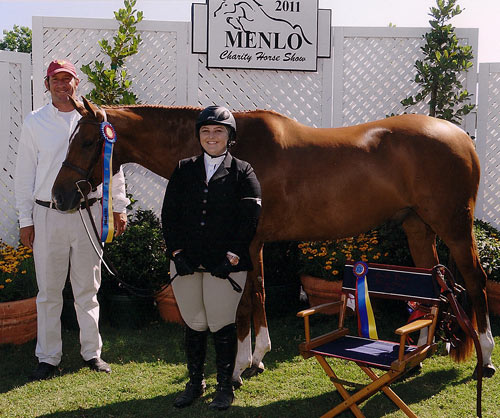 Chelsea Samuels and Brooklyn owned by Woodvale Champion Adult Hunter 18-30 2011 Menlo Charity Horse Show Photo JumpShot