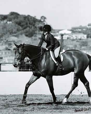 Delanie Stone and White Oak Winner Best Child Rider 2007 Palms Classic Horse Show Photo Cathrin Cammett