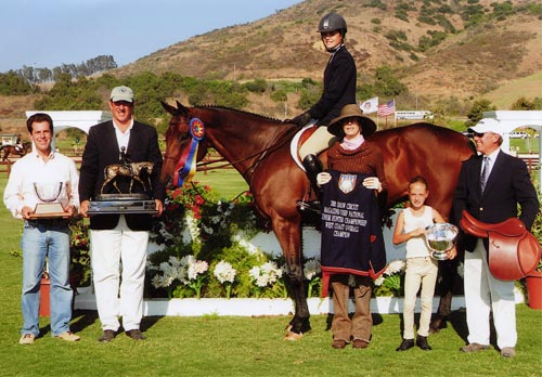 In Sync owned by Stephanie Danhakl Grand Champion 2005 Junior Hunter Finals Photo JumpShot