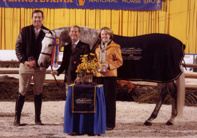 John French and Cruise owned by Jessica Singer Champion Green Conformation Hunter 2010 Pennsylvania National Photo Al Cook