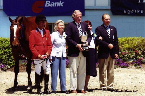 John French and Overseas owned by Laura Wasserman Regular Working Hunters 2007 Devon Horse Show Photo Randi Muster