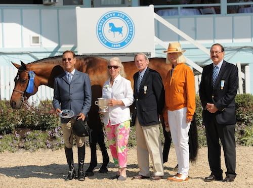 Laura Wasserman's Boss ridden by John French 1st Year Green Hunter 2015 Devon Horse Show_Photo The Book LLC