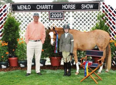 Lucy Davis and Enrico Best Pony Rider 2005 Menlo Charity Photo JumpShot
