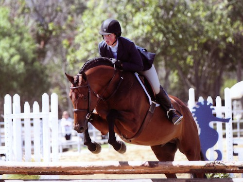 "Meredith Mateo and Maximus Amateur Owner Hunter 3'3"" 2014 Portuguese Bend Photo Captured Moment"
