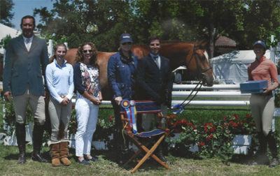 Nick Haness and Krave Champion 1st Year Green Working Hunter Winner of Scott Wilson Memorial Trophy 2013 Menlo Charity Archie Cox Hunter Siebel Stacey Siebel Caerrie Robinson Nick Haness