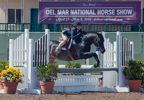 Stella Wasserman and Trillville Medium Pony Hunter 2016 Del Mar National