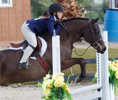 Stella Wasserman and Trillville Medium Pony Hunter 2016 HITS Desert Circuit