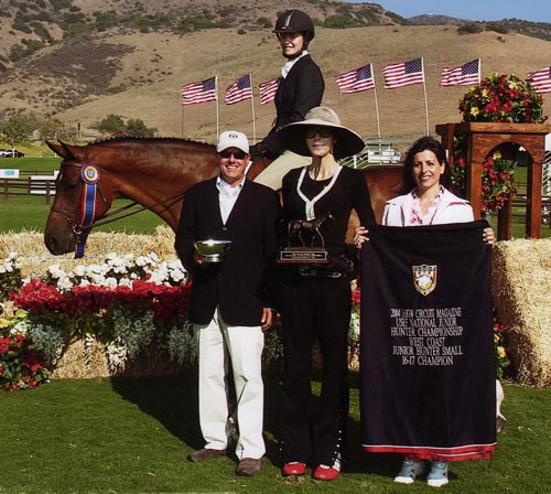Callaway owned by Stephanie Danhakl Grand Champion 2004 Junior Hunter Finals Photo JumpShot