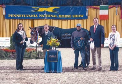 John French and Laura Wasserman's Boss Champion Green Conformation Hunter 2015 Pennsylvania National Photo Al Cook