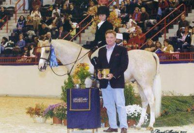 Katie Dinan and Keep Dreamin Pony Hunter Winners Stake 2007 Pennsylvania National Photo Randi Muster