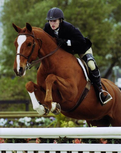 Nicole Hasteltine and Wesley, owned by Joan Hasteltine 2007 Winner, Small Junior Hunters, 16-17 Photo by JumpShot