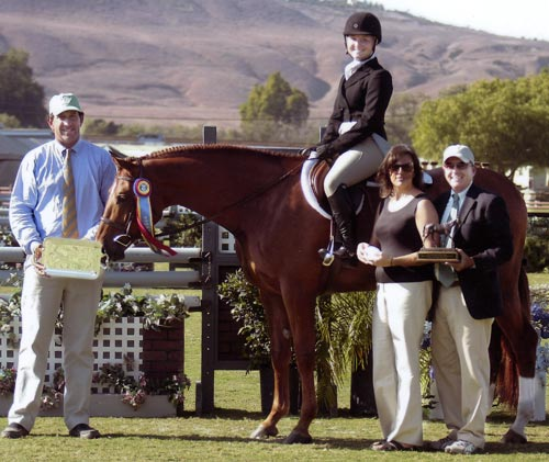 Pringle owned by Ashley Pryde Champion Small Junior 16-17 2009 Junior Hunter Finals Photo Captured Moment