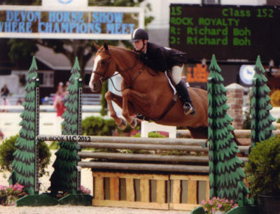 Richard Boh and Rock Royalty Amateur Owner Hunter 18-35 2012 Devon Horse Show Photo The Book LLC