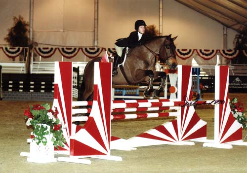 Cayla Richards and Y2K owned by Hap Hansen Winner USEF USET WIHS and ASPCA classes 2010 HITS Desert Circuit Photo Flying Horse