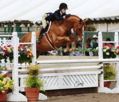Gabbi Langston and Azian owned by Fastball Farm Large Junior Hunters 2009 Del Mar National Photo Osteen
