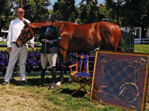 Gina Ross and Beckham Amateur/Owner Champion Amateur/Owner Classic Winner 2011 Menlo Charity Horse Show Photo JumpShot