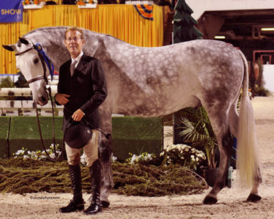 John French and Cruise owned by Jessica Singer Green Conformation Hunter 2010 Pennsylvania National Horse Show Photo Al Cook