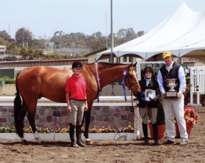 Laura Wasserman and Overseas Champion Amateur Owner Hunters 36 & Over 2011 Del Mar National Photo Osteen