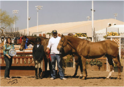 Lily Blavin and Archie Cox with Montague and Sander 2013 Scottsdale Spring Classic Photo Deb Dawson