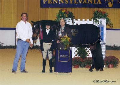 Lucy Davis and Harmony Grand Champion Large Junior Hunters 2007 Pennsylvania National Photo Randi Muster