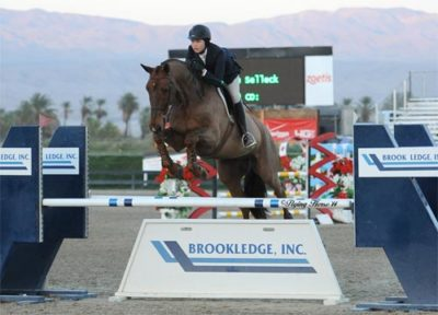 Melanie Selleck and Zenden 2014 HITS Desert Circuit Photo Flying Horse