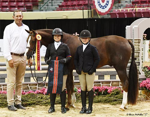 Stella Wasserman and Benetton Reserve Champion Large Pony Hunter 2017 Capital Challenge Photo by McMillen