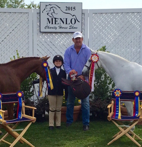 Stella Wasserman with Benjamin Buttons and Blueberry Hill Champion and Reserve Champion Small Pony Hunter 2015 Menlo Charity Horse Show