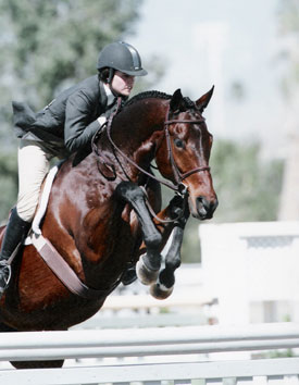 Stephanie Danhakl and In Sync Overall Circuit Reserve Grand Champion Large Jr Hunters 16-17 2005 HITS Desert Circuit Photo Flying Horse