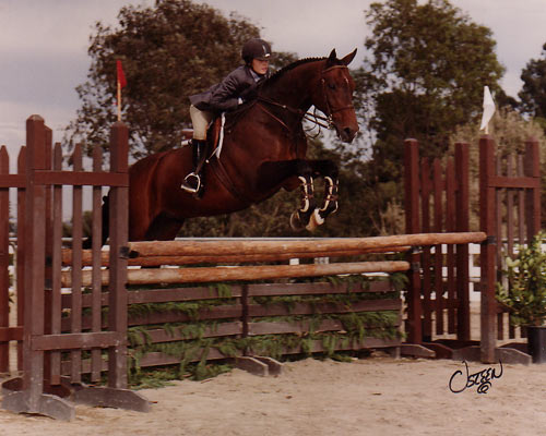 Stephanie Danhakl and Pharaoh USET Class 2003 Portuguese Bend National Photo Osteen