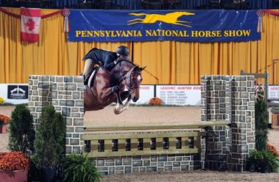 Virginia Fout and Cristiano Amateur Owner Hunter 2015 Pennsylvania National Photo Al Cook