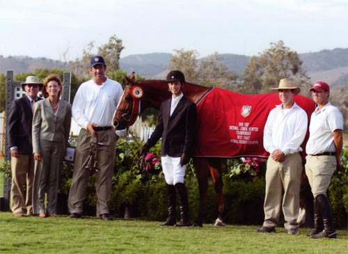 Aura owned by Mr and Mrs Ralph Caristo Reserve Grand Champion 2008 Junior Hunter Finals Photo Captured Moment