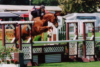Chelsea Samuels and Brooklyn Champion Large Junior Hunters Oaks Blenheim Summer 2008 Photo Cathrin Cammett