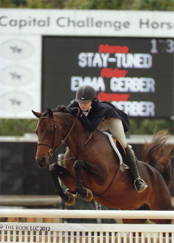 Emma Gerber and Stay Tuned Small Junior Hunter 16-17 2012 Capital Challenge Photo The Book LLC