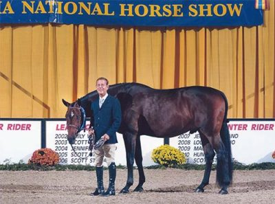 John French and Laura Wasserman's Boss Champion Green Conformation Hunter 2015 Pennsylvania National Photo Al Cook