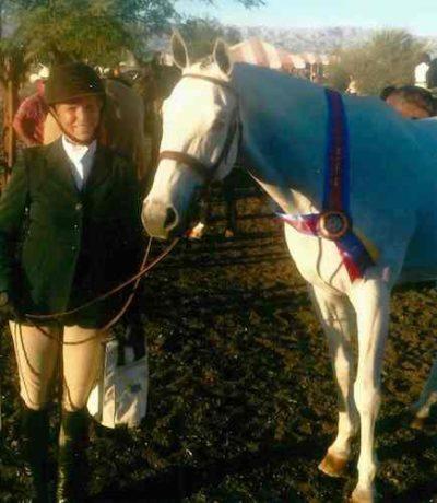"Karin Binz and Walnut Creek Amateur Owner Hunter 3'3"" 2014 Gold Coast Series Los Angeles Equestrian Center"