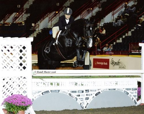 Laura Wasserman and Jimmy Choo 2006 Zone 10 Reserve Champion Amateur Owner Hunters 36 & Over Pennsylvania National Photo Randi Muster