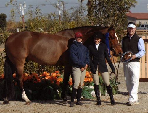 Laura Wasserman and Overseas Amateur Owner Classic Winner 2009 HITS Desert Circuit Photo Flying Horse