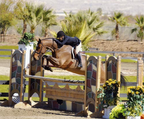 Laura Wasserman and Truman Amateur Owner Hunter 36 & Over 2012 HITS Desert Circuit Photo Flying Horse